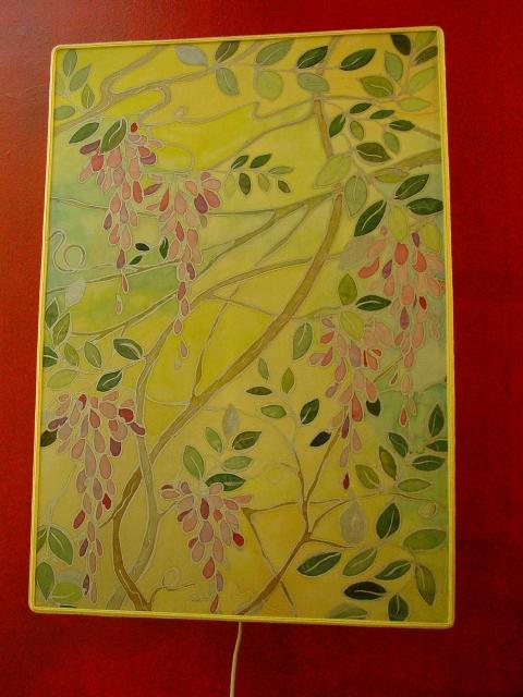 Ventola con batik dipinto a mano