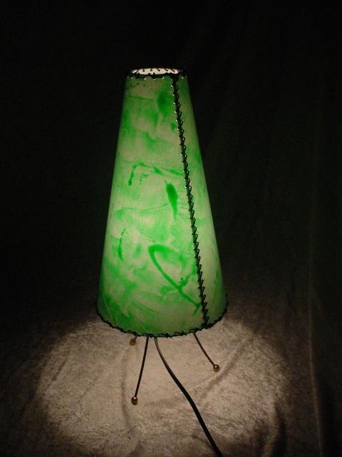 Cono in pergamena verde trasparente