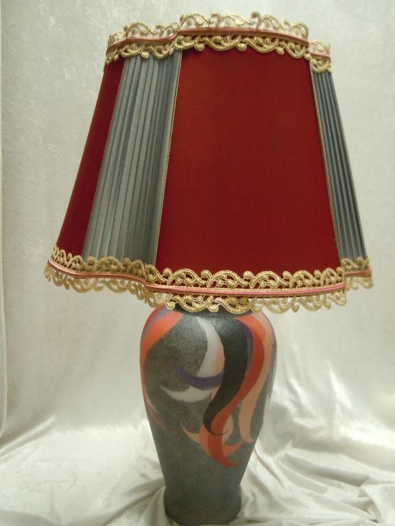 Paralume in seta bicolore