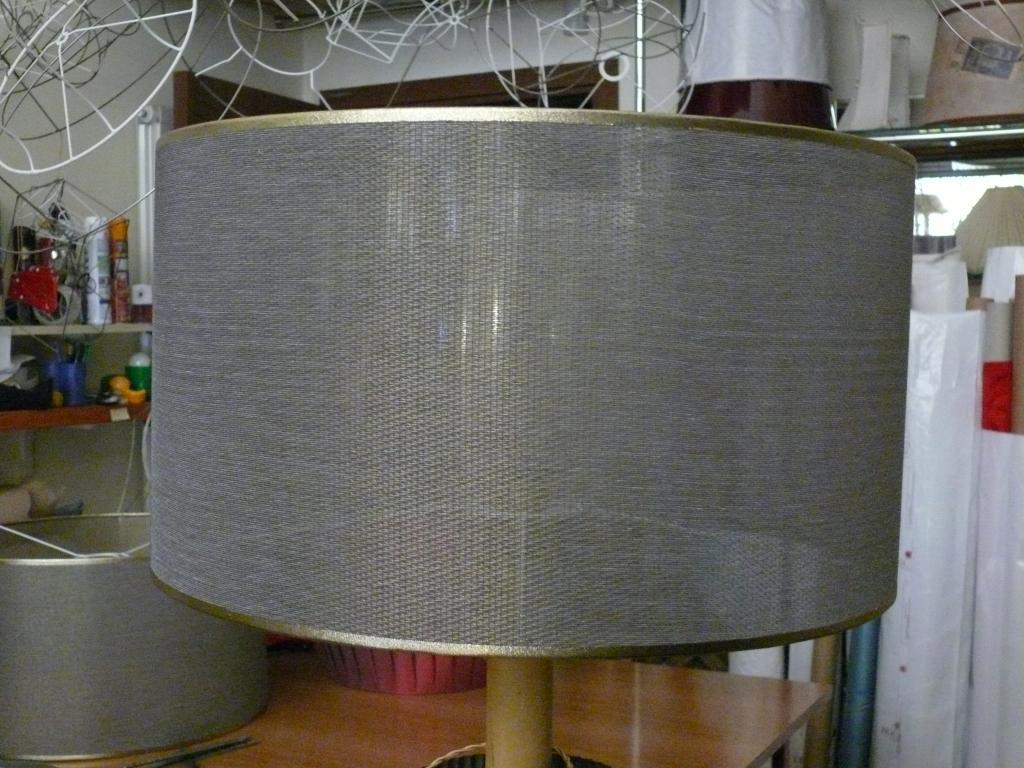 Paralume in tessuto metallico