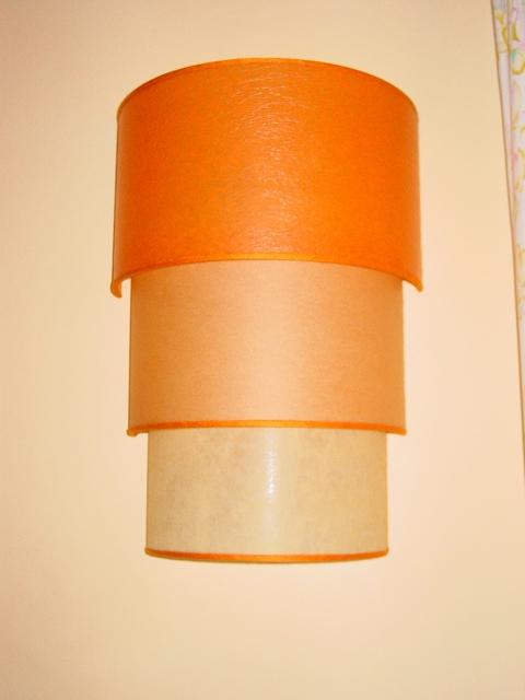 Scala di ventole gradazione arancione