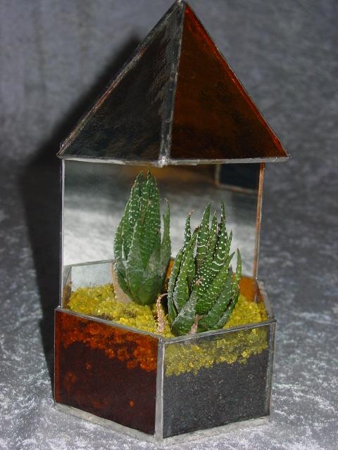 Serra in vetro Tiffany rossa