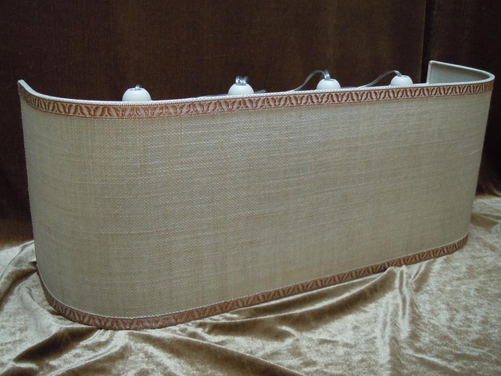 Ventola da muro in lino con quattro luci