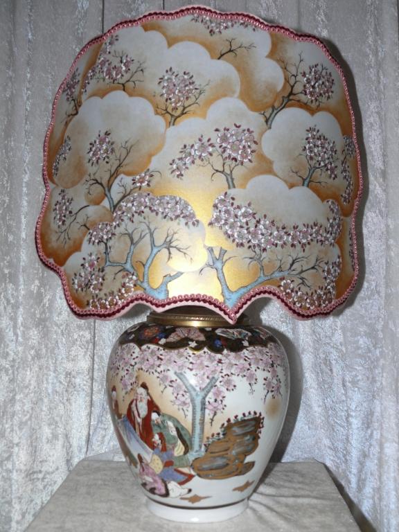 Ventola dipinta su vaso cinese