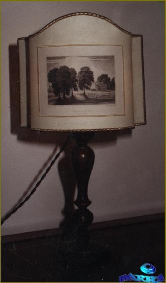 Ventola sagomata con stampa antica