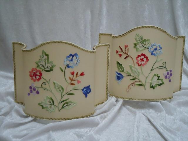 Ventole con applicazioni fiori in stoffa